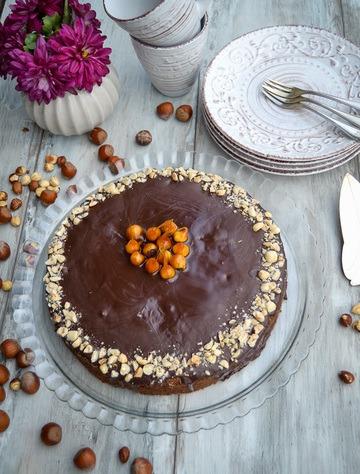 Rezept Saftiger Haselnusskuchen mit Schoko Glasur