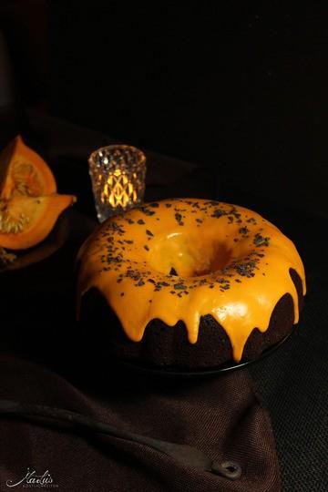 Rezept Saftiger Schoko-Kürbisguglhupf mit Orange
