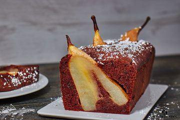 Rezept Saftiger Schokoladenkuchen mit ganzen Birnen