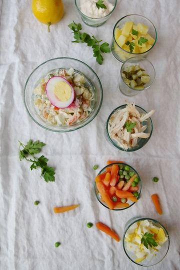 Rezept Salad-e Olivieh - russischer Salat nach persischer Art