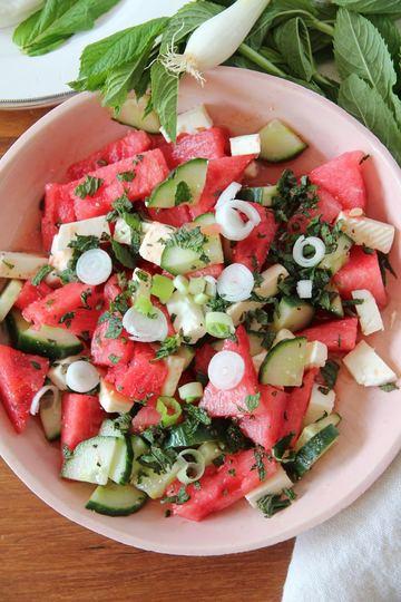 Rezept Salad-e Panir o Hendevaneh - persischer Wassermelonensalat