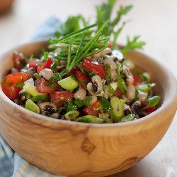 Rezept Salat aus Schwarzaugenbohnen