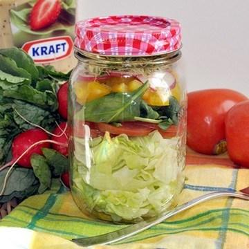 Rezept Salat im Glas