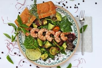 Rezept Salat mit Avocado und Garnelen