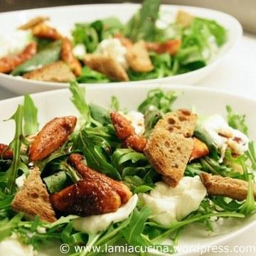 Rezept Salat mit Burrata und Feigen