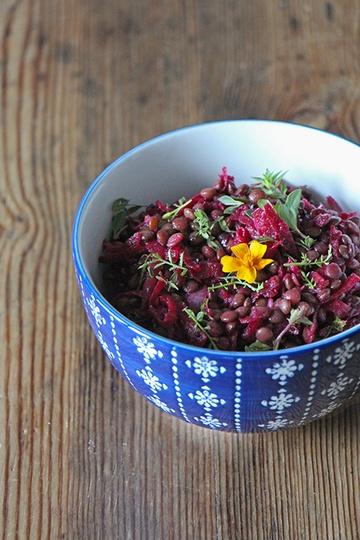 Rezept Salat mit Linsen und Rote Bete