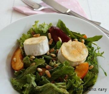 Rezept Salat mit Nektarinen und gebratenem Ziegenkäse