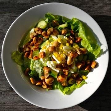 Rezept Salat mit Pilzen & Dilldressing