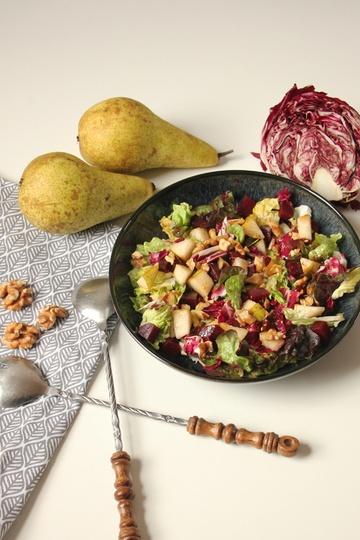 Rezept Salat mit Radicchio, Rote Bete und Birne