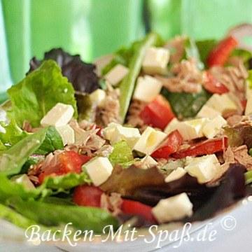 Rezept Salat mit Thunfisch und Ziegenkäse