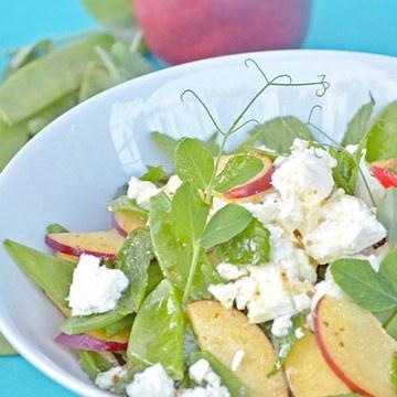 Rezept Salat mit Zuckerschoten und Nektarinen