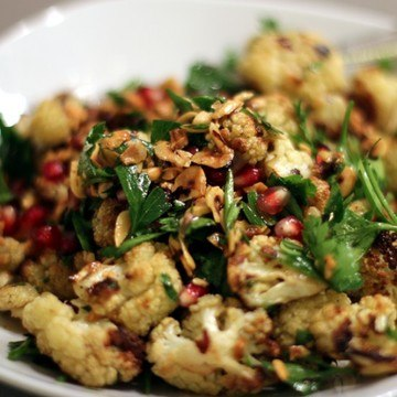 Rezept Salat vom gerösteten Blumenkohl