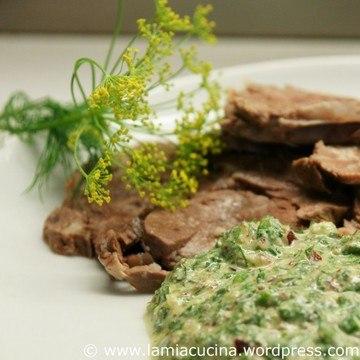Rezept Salsa verde zu kaltem Rindfleisch