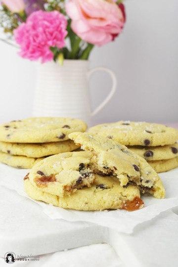 Rezept Salted Caramel Chocolate Chips Cookies