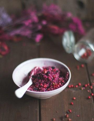 Rezept Salz mit Pfefferbeeren und Rote Bete