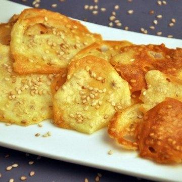 Rezept Salzige Dachziegeln mit Sesam