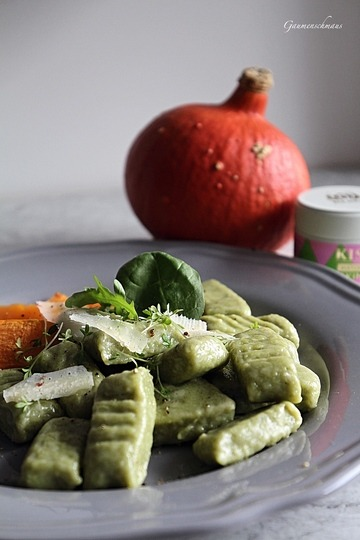Rezept Salzige Matcha-Gnocchis