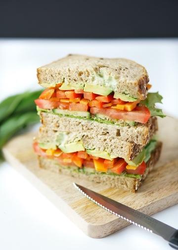 Rezept Sandwich mit Bärlauch-Mayonnaise und Sprossen