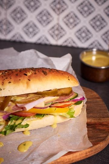 Rezept Sandwiche mit Honig-Senf-Sauce