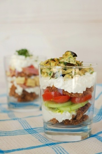 Rezept Sandwiches im Glas