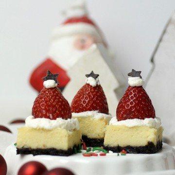 Rezept Santa-Mützen-Cheesecake