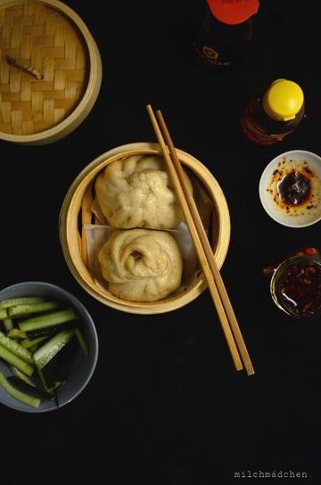 Rezept Sauerteig-Baozi mit Hackfleisch-Schnittlauch-Füllung