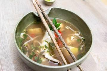 Rezept Saure Fischsuppe mit Ananasund Bambussprossen