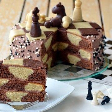 Rezept Schachbrett-Torte
