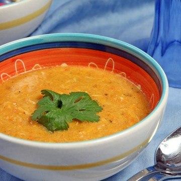 Rezept Scharfe Kürbissuppe mit Krabben