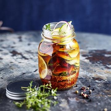 Rezept Scharfe Zucchini süß sauer eingelegt