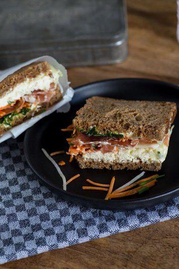 Rezept Schinken Gemüse Sandwich