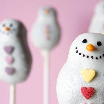 Rezept Schneemann-Cake Pops zu Weihnachten