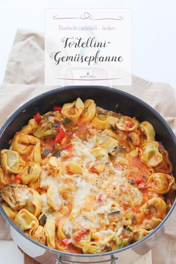 Rezept Schnell gemacht: Tortellini-Gemüsepfanne