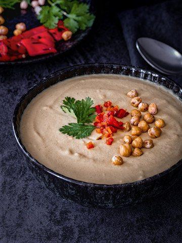 Rezept Schnelle Hummus Suppe aus dem Mixer