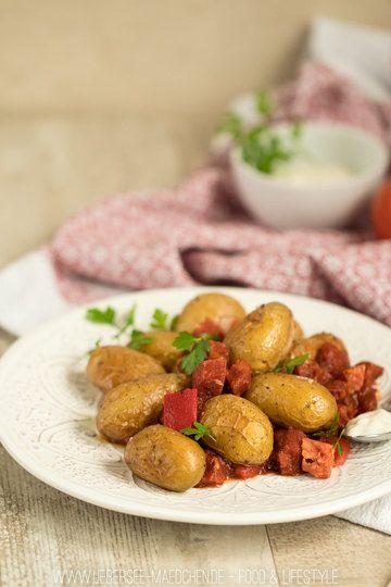 Rezept Schnelle Kartoffeln mit Chorizo-Paprika-Sauce