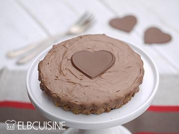 Rezept Schnelle Nutella-Cheesecake-Tarte mit Crunchy-Effekt