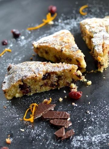 Rezept Schneller Cranberry-Schokoladenkuchen mit Orange