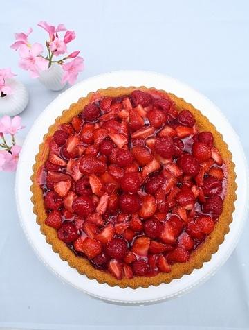 Rezept Schneller Erdbeer-Himbeer-Kuchen