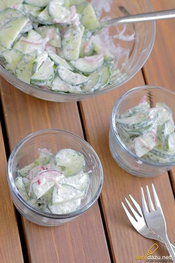 Rezept Schneller Gurkensalat mit Joghurt