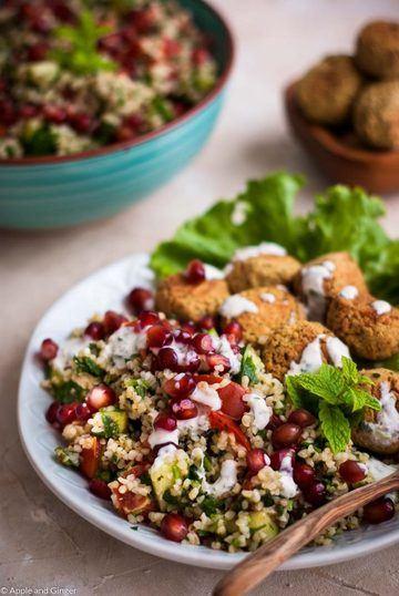 Rezept Schnelles 30 Minuten Tabouleh mit Falafel