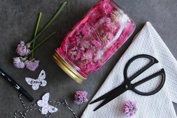 Rezept Schnittlauchblüten-Essig