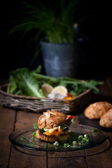 Rezept Schnitzelburger im rustikalen Landbrötchen