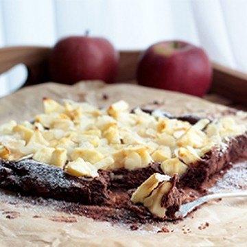 Rezept Schoko-Apfelkuchen mit Mandeln