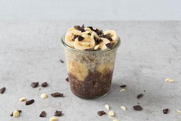 Rezept Schoko-Bananen-Overnight Oat