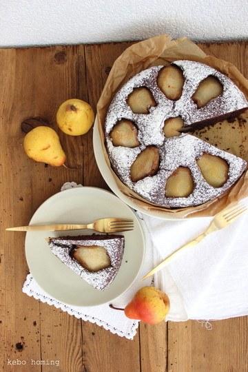 Rezept Schoko-Birnen-Kuchen