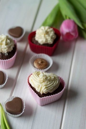 Rezept Schoko Cupcakes zum Valentinstag