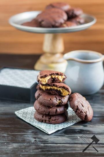 Rezept Schoko Erdnussbutter Cookies
