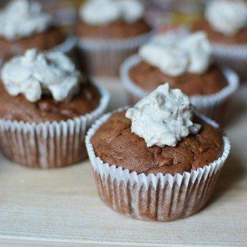 Rezept Schoko-Kürbis-Cupcakes mit Maroni-Topping