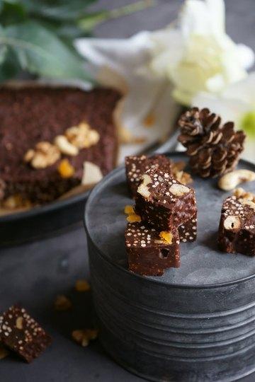 Rezept Schoko-Nuss-Fudge mit gepufftem Quinoa