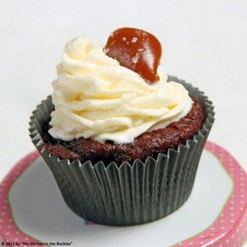 Rezept Schokocupcakes mit salzigem Karamell
